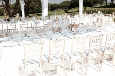 White wedding concept chairs