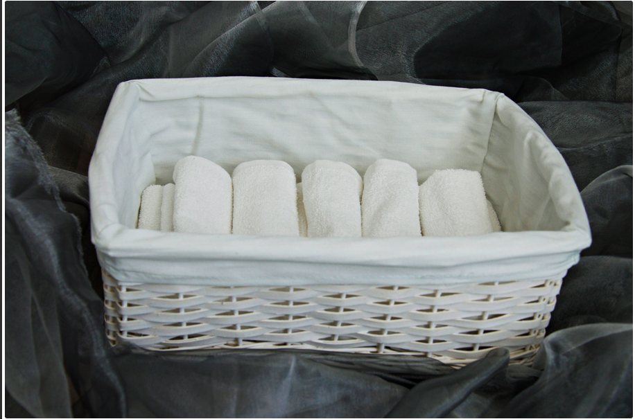 Basket for hand towels